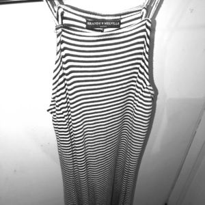 Black and white striped Brandy Melville dress 👗🎵